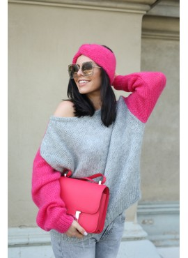 Sweter Sky Grey/Candy Pink